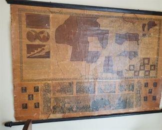 1848 original antique map