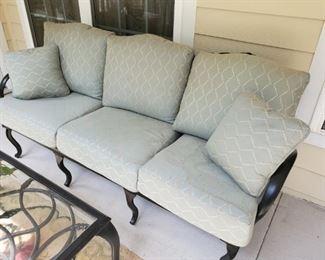 Modern metal patio sofa