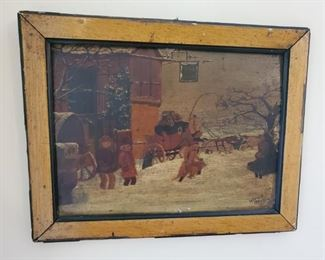 Antique paintings