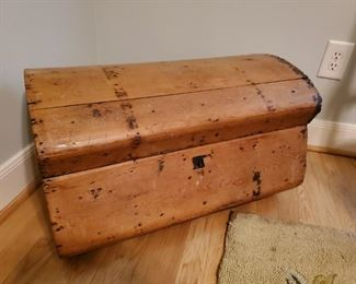 Very old all hand made  Antique travel trunk