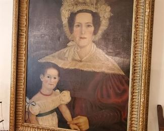 Large antique paintings