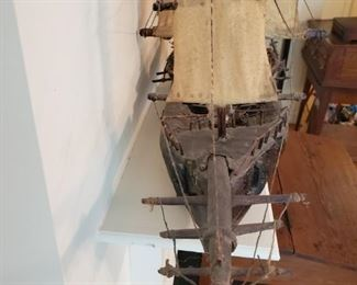 Hand made antique boat