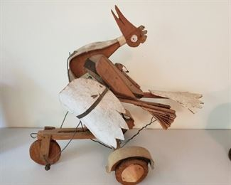 Hand made rolling bird toy. Unique and rare