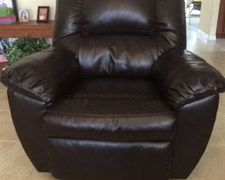 Full-Sized Brown Rocker/Recliner