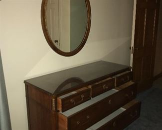 5 drawer dresser with wall mirror - (next week I will teach Jenn to use the flash button)