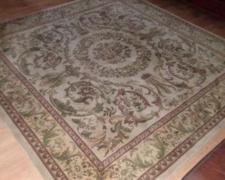 7×7 Karistan fine wool rug in very good condition, woven in Belgium.