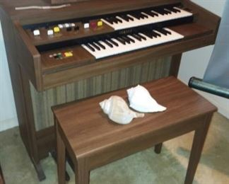 Electric Organ. Earn your deep discount.... This is located on the second floor.  Bring people to help you move it from the house!