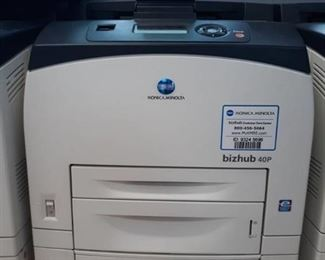 Konica Minolta Printer with extra paper tray Model # bizhub 40p