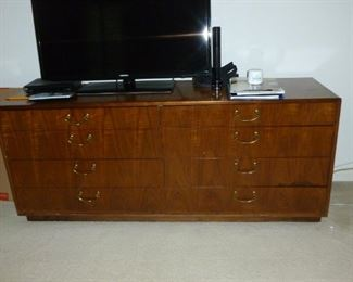 Neat dresser, tv not for sale