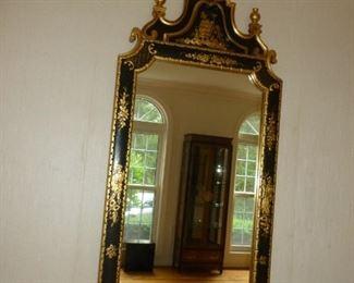 Ornate black & gold mirror