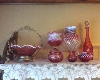Beautiful antique cranberry glass