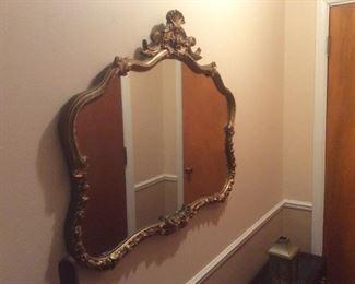 Gold leaf nice sofa mirror