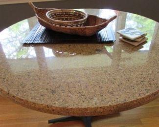 40 inch round granite table