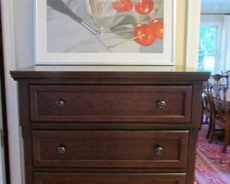 Dresser is new and the cherries are fun.
