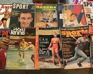 Check out all the vintage sports magazines