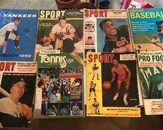 Tennis , Basketball , Football, Horse racing magazines