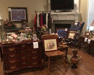 Furniture, original art, accessories
