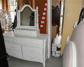 3. White Provincial Style Dresser wVanity Mirror