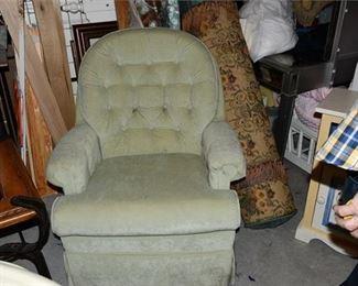 5. Green Armchair wFoot Rest