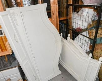 6. Provincial Style Childrens Bed in White