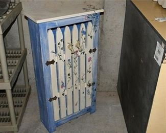 9. Country Chic Hand Painted Storage Unit