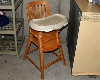 10. Solid Wood EDDIE BAUER ChildrensBaby High Chair