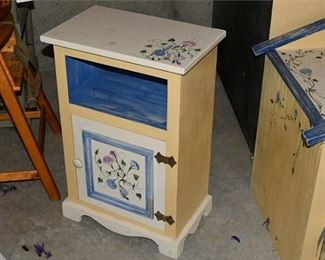 11. Country Chic Hand Decorated Small Cupboard Storage Unit
