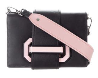 Prada - Small City Calf Plex Ribbon Geometric Flap Bag