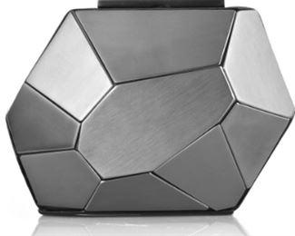 Herve Leger - Metallic Iron Minaudiere Clutch
