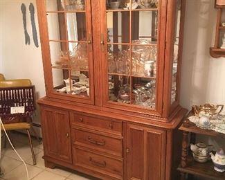 Bernhardt Oak China Cabinet