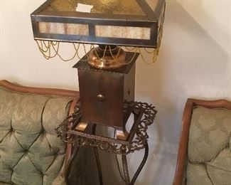 Close up of lamp and stand