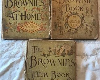 Brownies, like fairies and goblins, are imaginary little sprites, who are supposed to delight in harmless pranks and helpful deeds, They work and sport while weary households sleep, and never allow them selves to be seen by mortal eyes, From the Brownies book 1887.