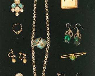 nice Victorian jewelry through Jean's collection many pieces from her grandmother