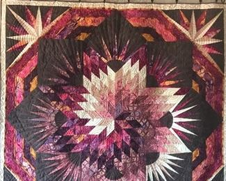large mosaic quilt/hanging by Jean