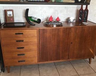 mid century teak cabinet