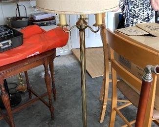 Brass like floor lamp $30