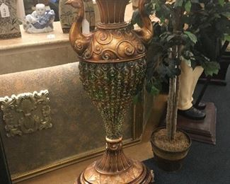 Peacock Vase - the bottom portion will shine beautiful colors into a room when set in front of a window.