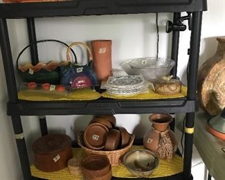 Pottery,  wood bowls, and more