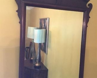 A pair of chippendale mirrors