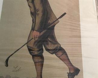 Vanity Fair golf  caricature