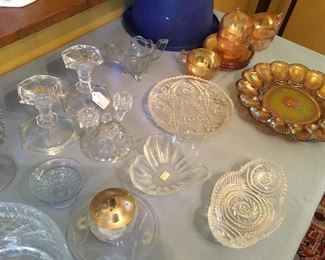 Everything from Ann egg plate to cut glass