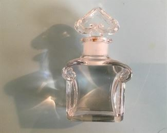 Baccarat stoppered bottle, some damage to the lip