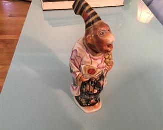 Wonderful antique bobbling head monkey