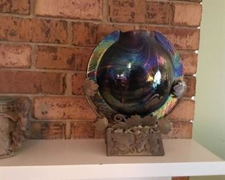 Partner oriental brass and glass