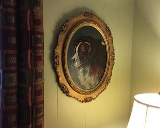 Portrait of a St. Bernard