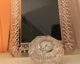 Waterford frame and clock