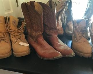 Cowboy boots and work boots