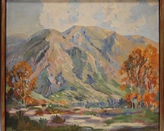 LOT #7010 - EARLY CALIFORNIA OIL ON CANVAS, UNSIGNED
