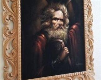 Moses on velvet