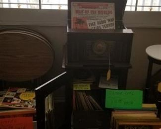 Records and Crosley turntable